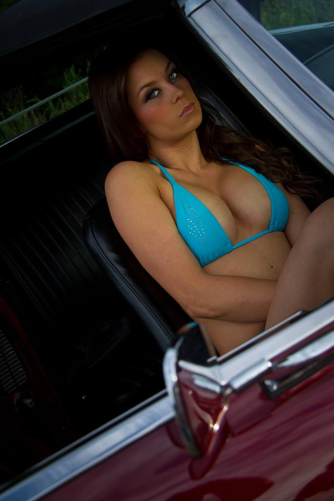 Cars And Girls 1968 Camaro Ss Convertible And Hot Model