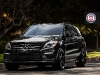 2012 Mercedes-Benz ML 63 AMG with 22 inch Satin Black HRE Wheels