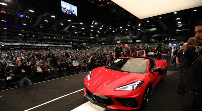 2020 Corvette Stingray VIN 0001 was auction for $3 million at Ba