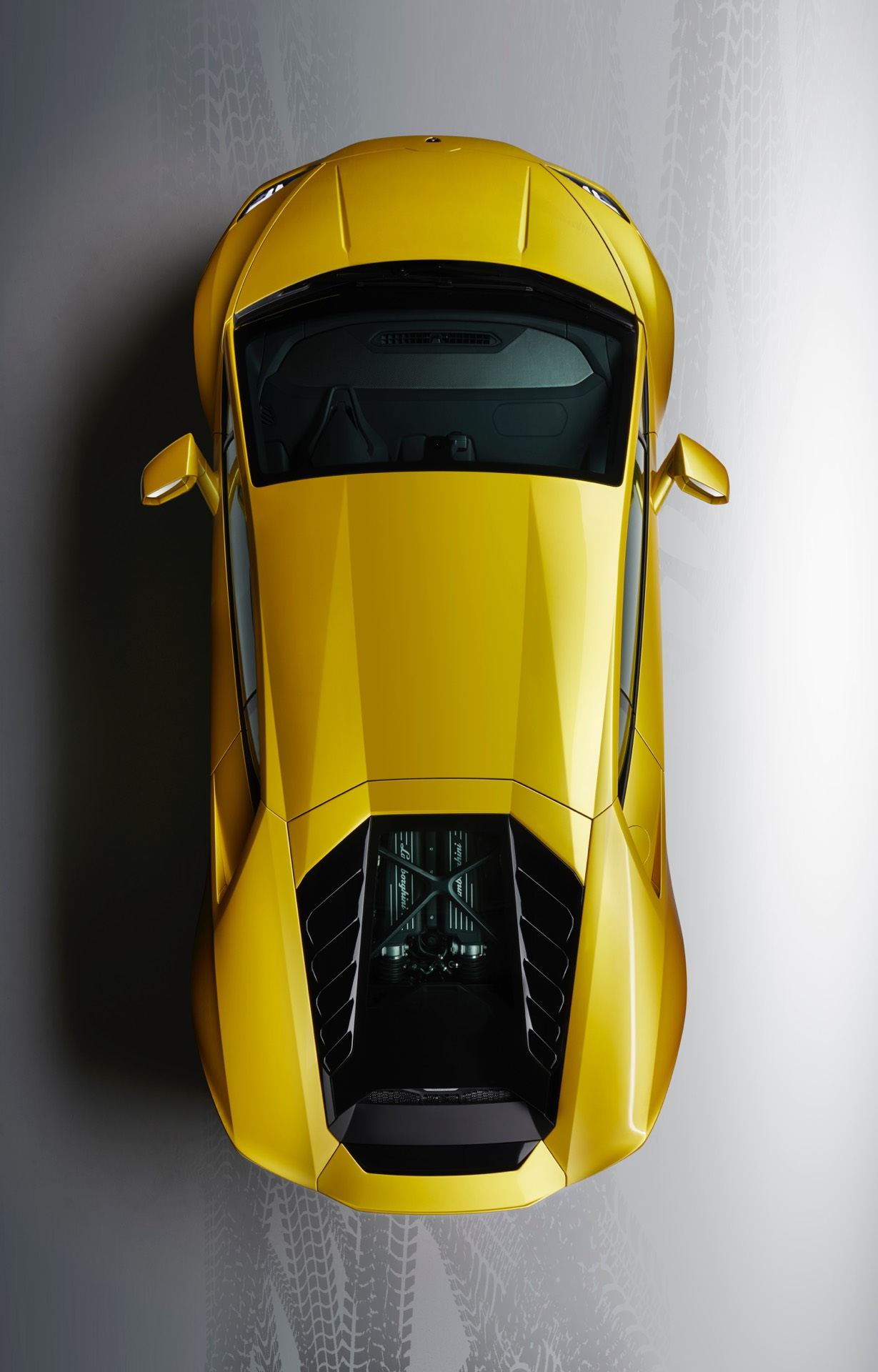 Lamborghini Huracan EVO Rear Wheel Drive Top View
