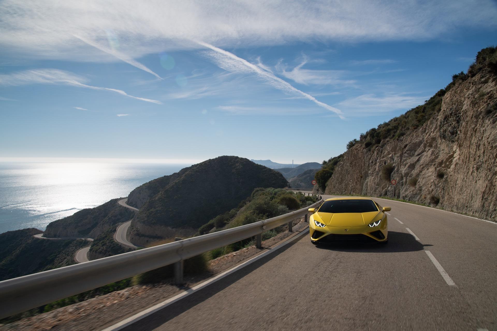 Lamborghini Huracan EVO Rear Wheel Drive Mountain Road