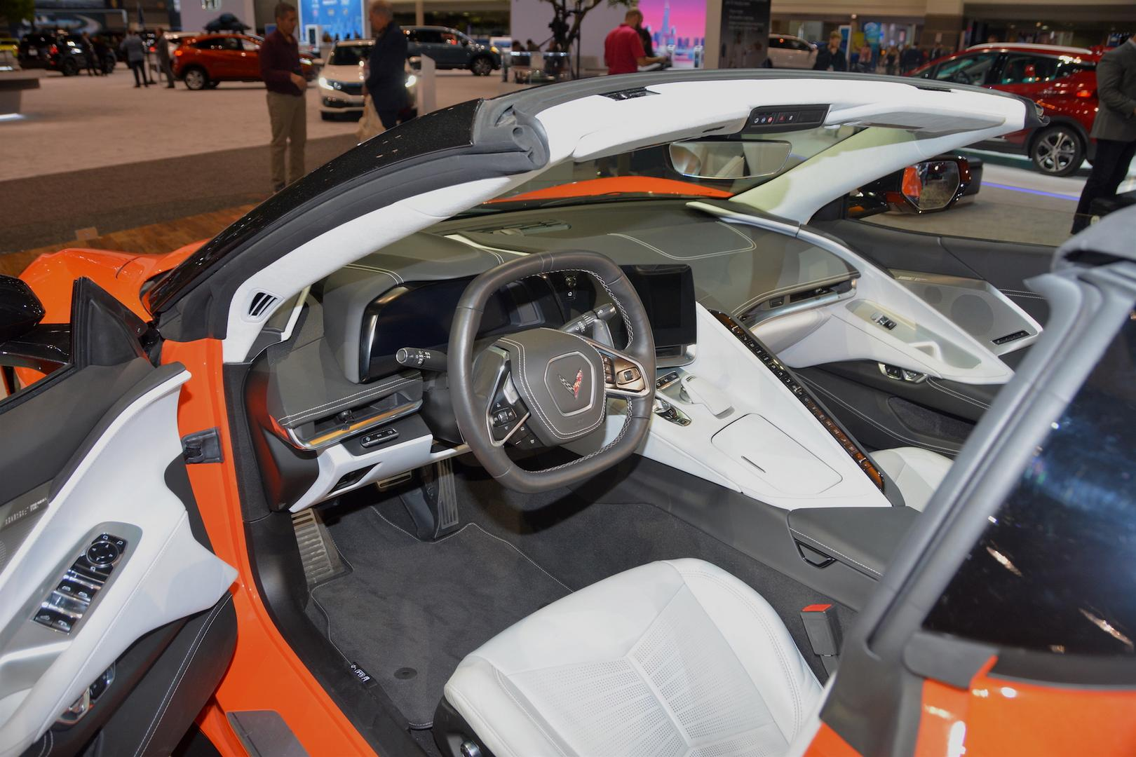 2020 Corvette C8 Convertible Interior White