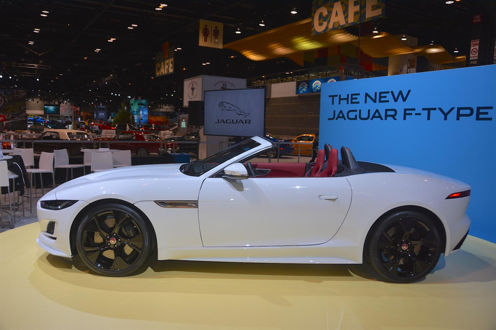 2020 Jaguar F-Type Convertible Side View