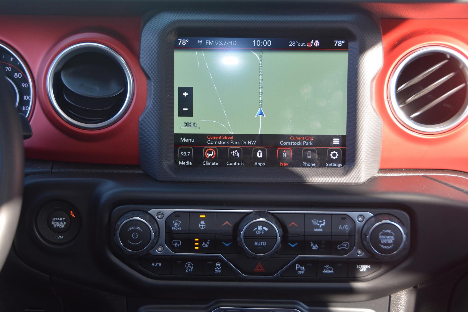 2020 Jeep Gladiator Rubicon Media Interface