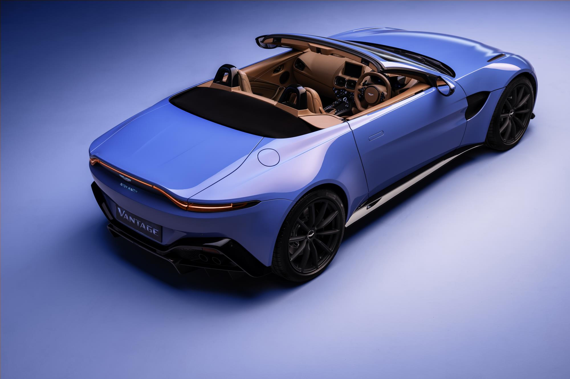 Aston Martin Vantage Roadster Top Down
