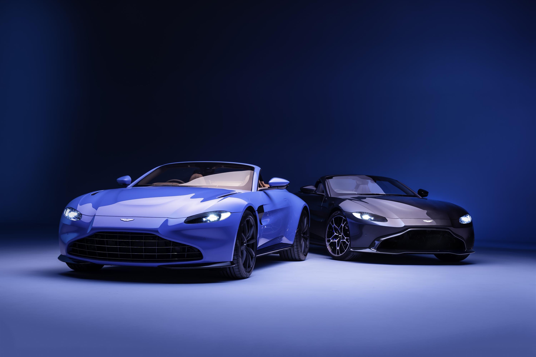 Blue Aston Martin Vantage Roadster
