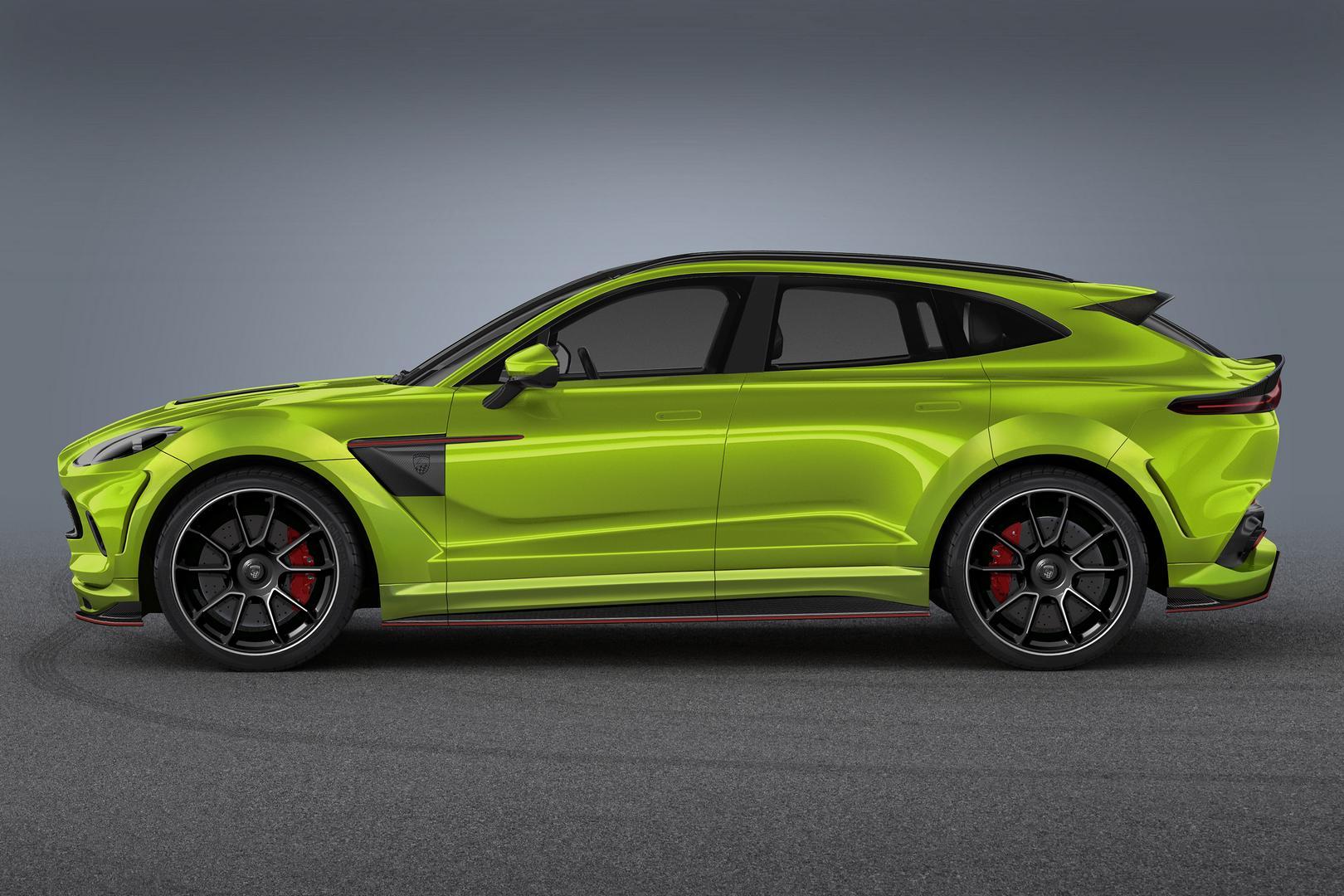 Green Aston Martin DBX Side