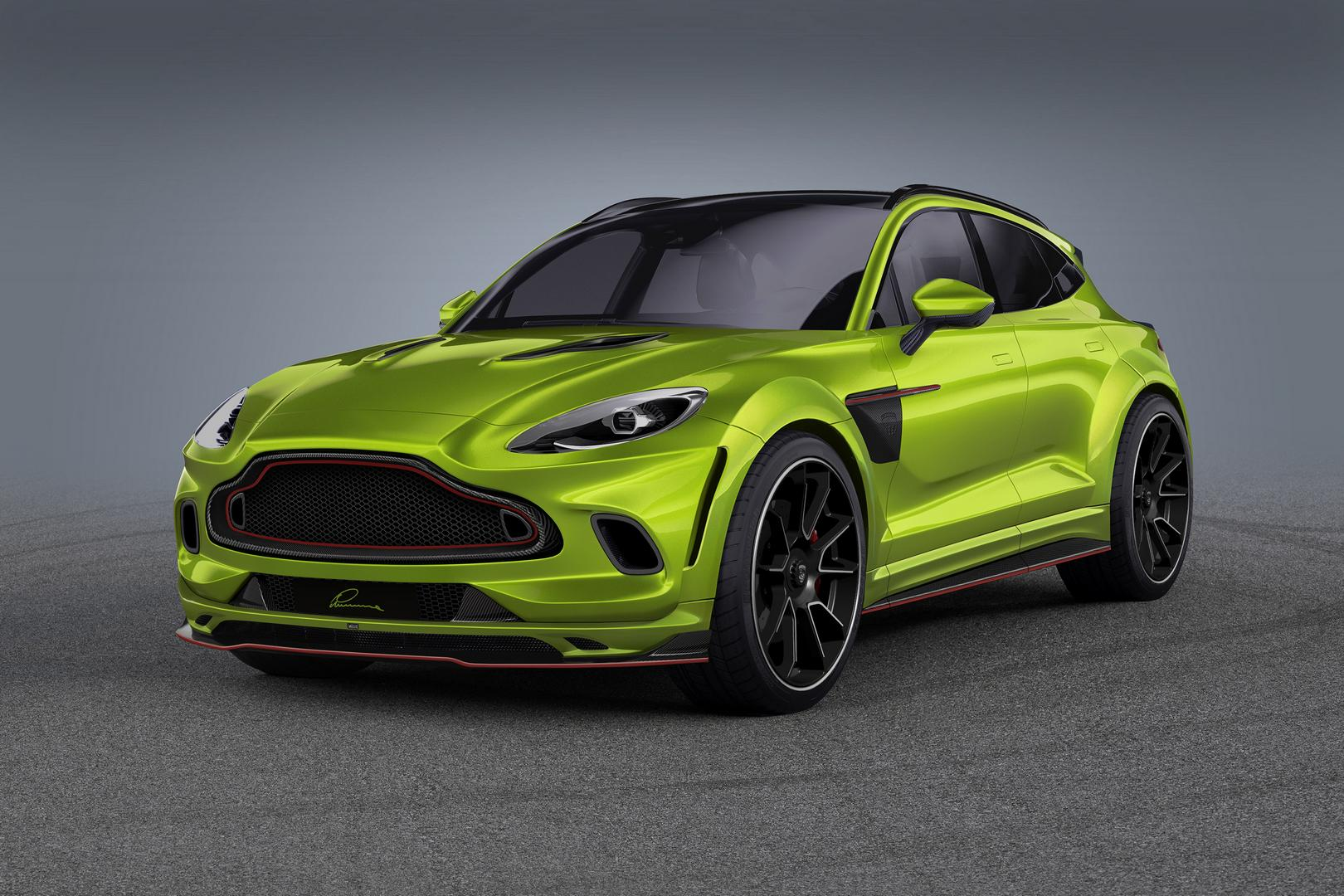 Green Aston Martin DBX