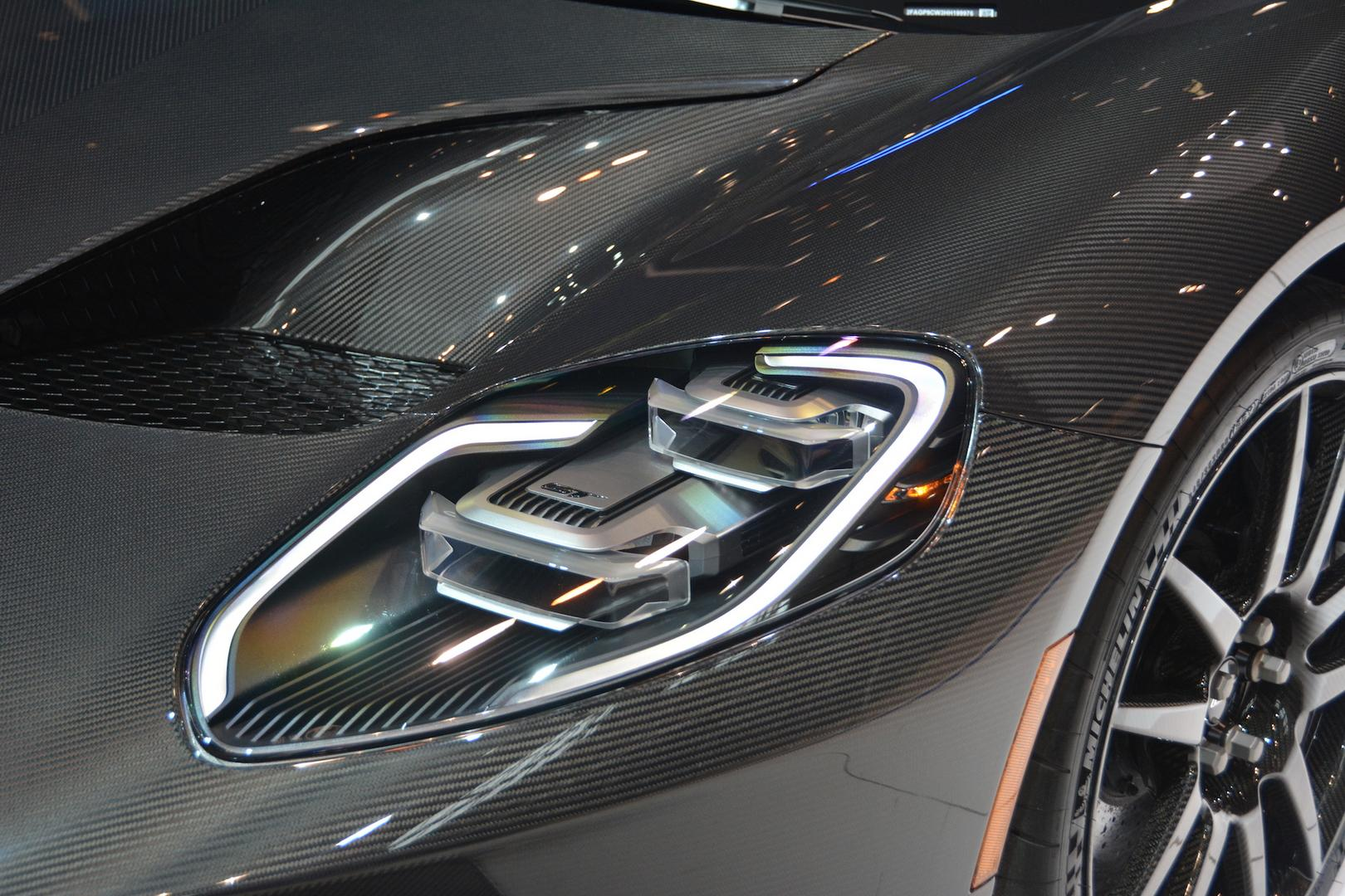Liquid Carbon Ford GT Headlight