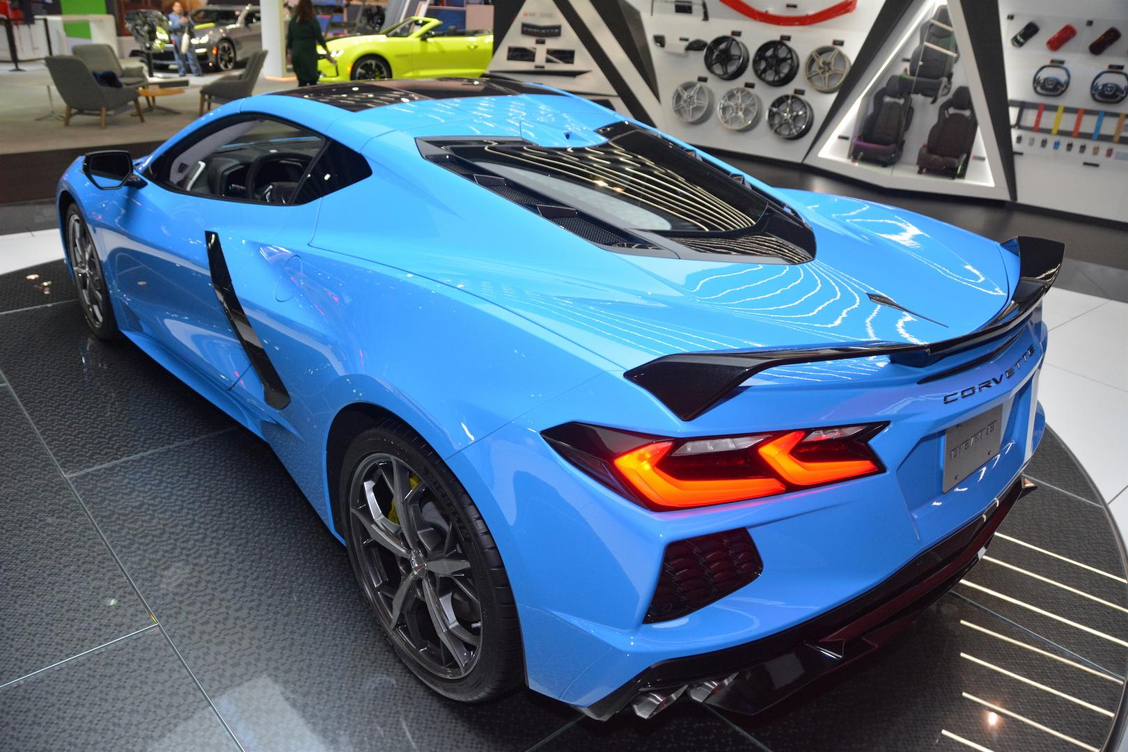 Rapid Blue Corvette C8 Rear Lights