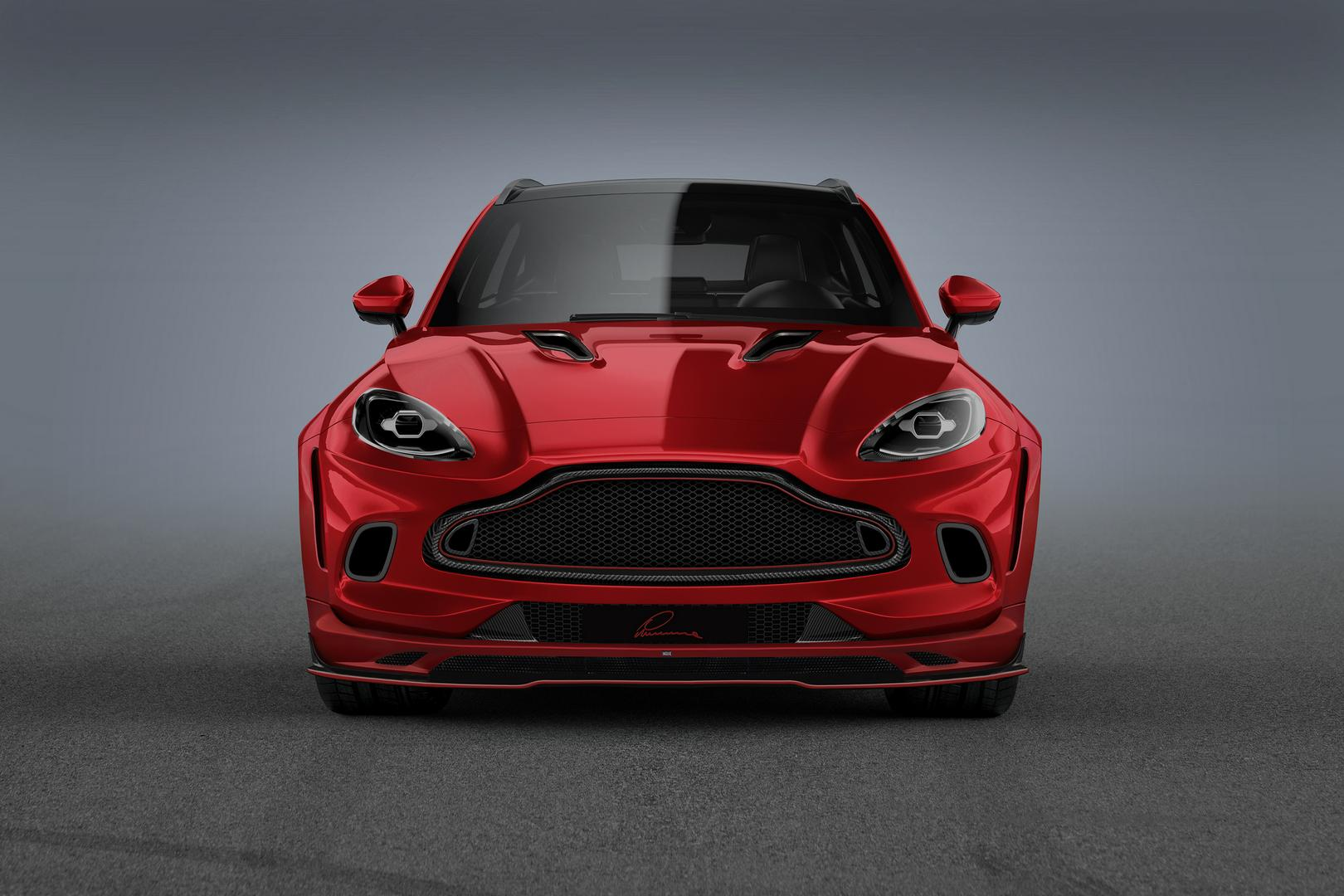 Red Aston Martin DBX Front