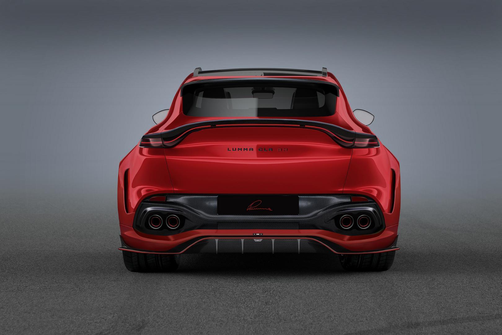 Red Aston Martin DBX Rear