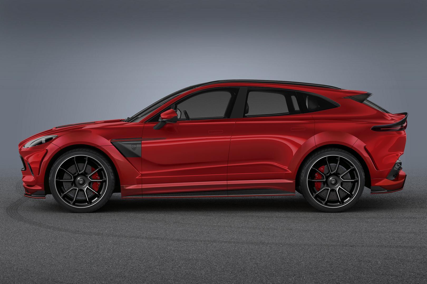 Red Aston Martin DBX