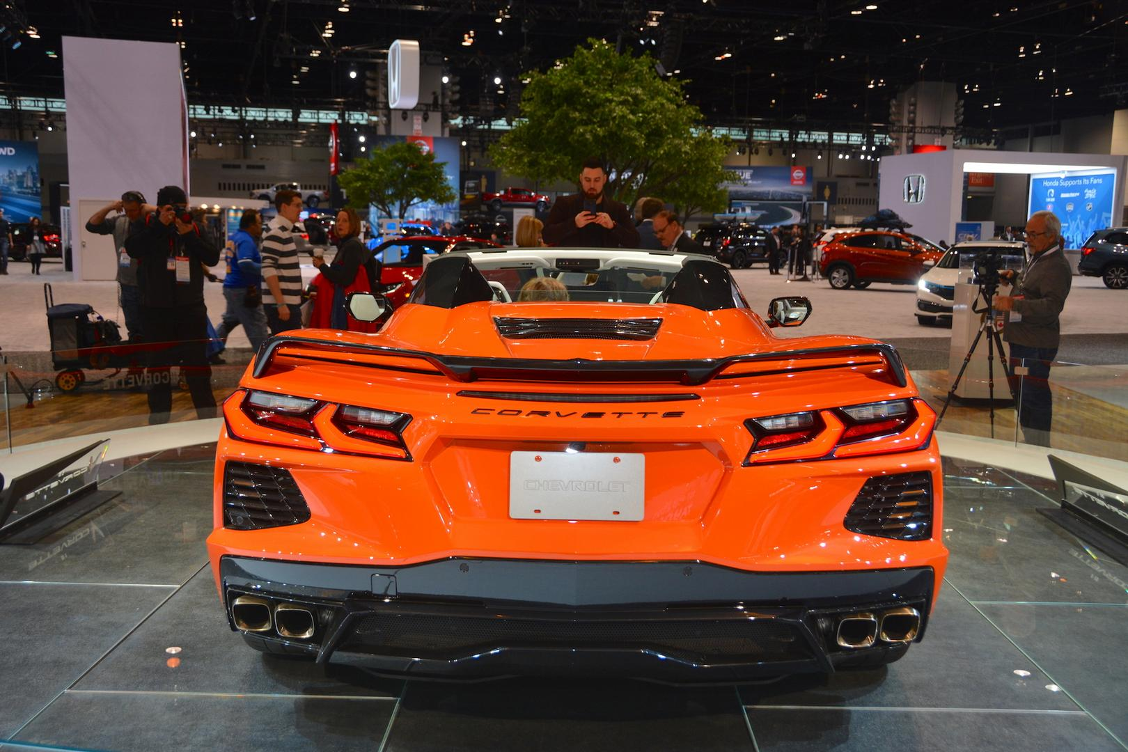 Sebring Orange Corvette C8 Convertible Rear