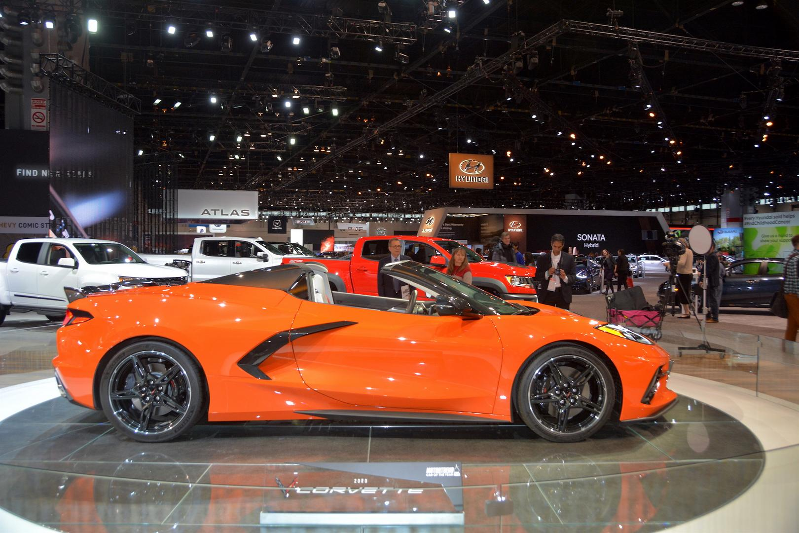 Sebring Orange Corvette C8 Convertible Side