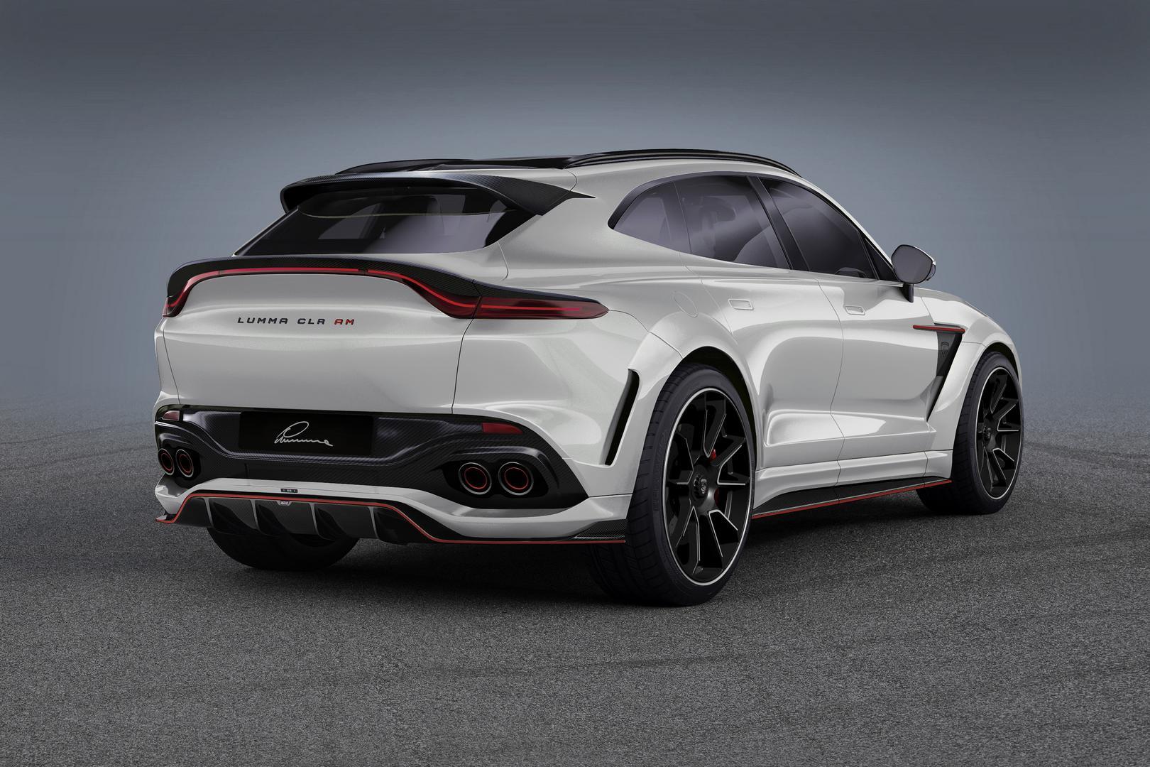 White Aston Martin DBX Rear