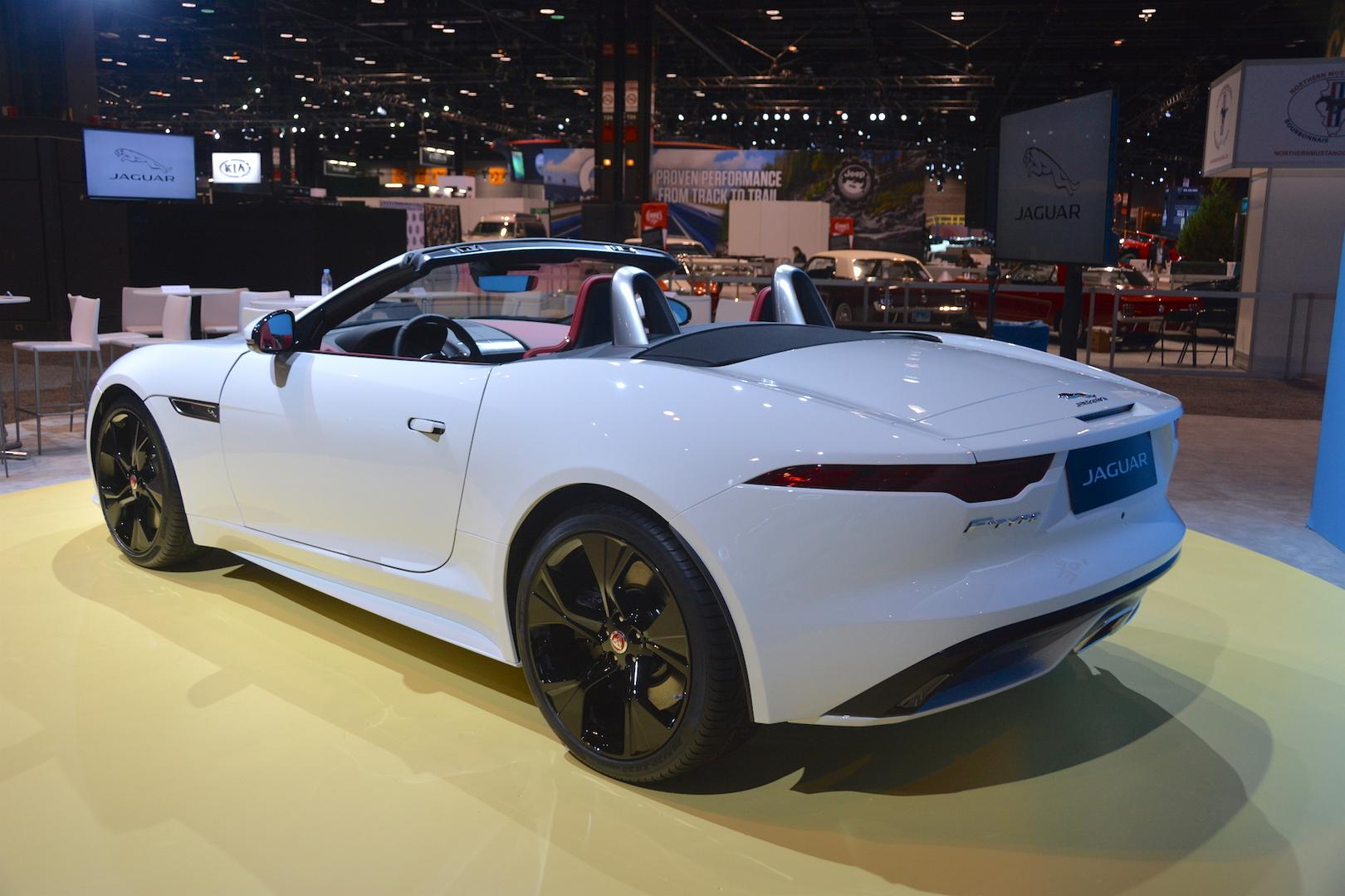 White Jaguar F-Type Convertible
