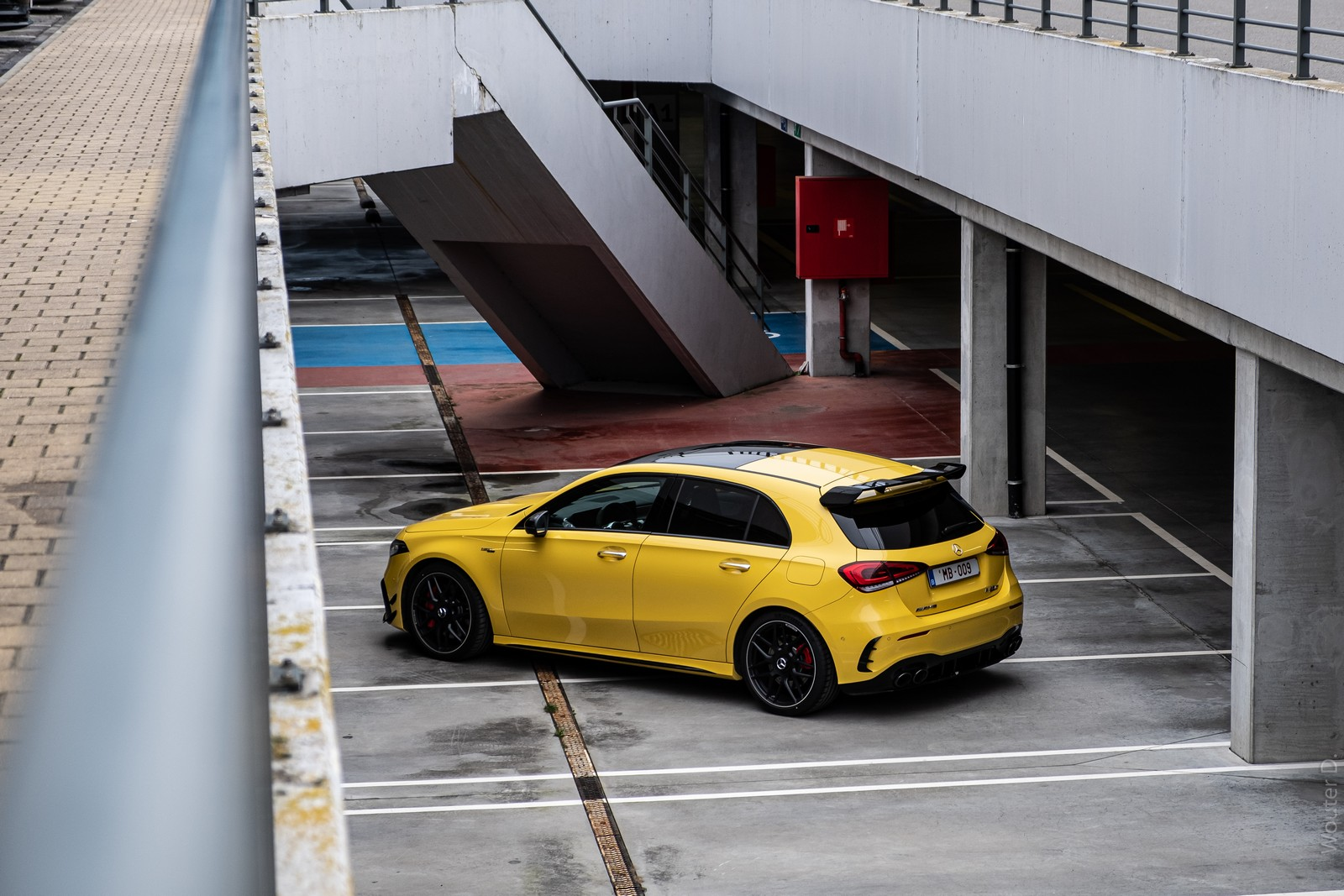 Yellow Mercedes-AMG A45 S