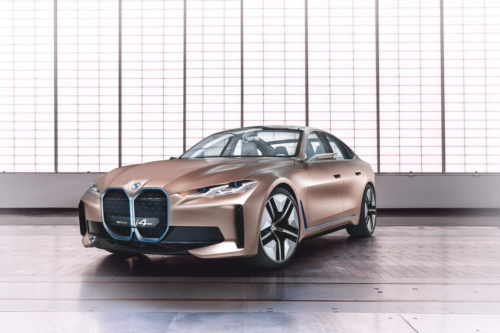 BMW Concept i4: Full Electric 4-Door Coupe Previewed