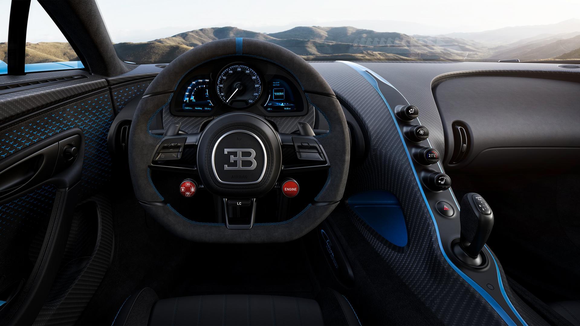 Bugatti Chiron Pur Sport Steering Wheel