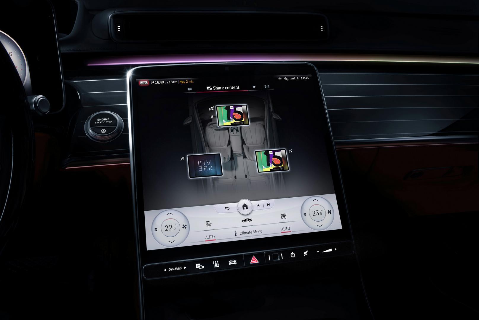 2021 Mercedes-Benz S-Class Screen