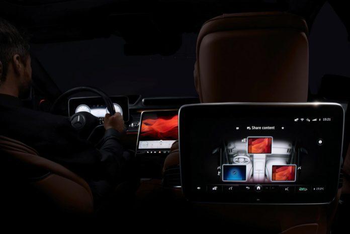 2021 Mercedes-Benz S-Class Driver Rear Screens