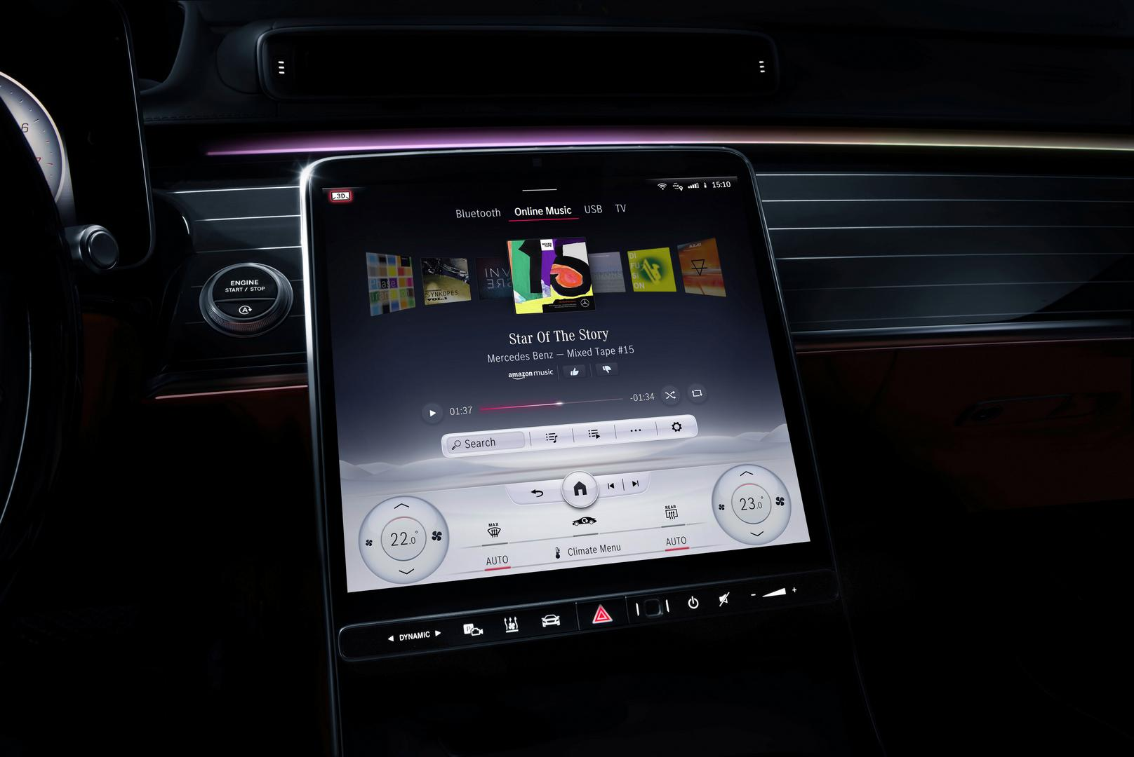 2021 Mercedes-Benz S-Class Driver 3D Display
