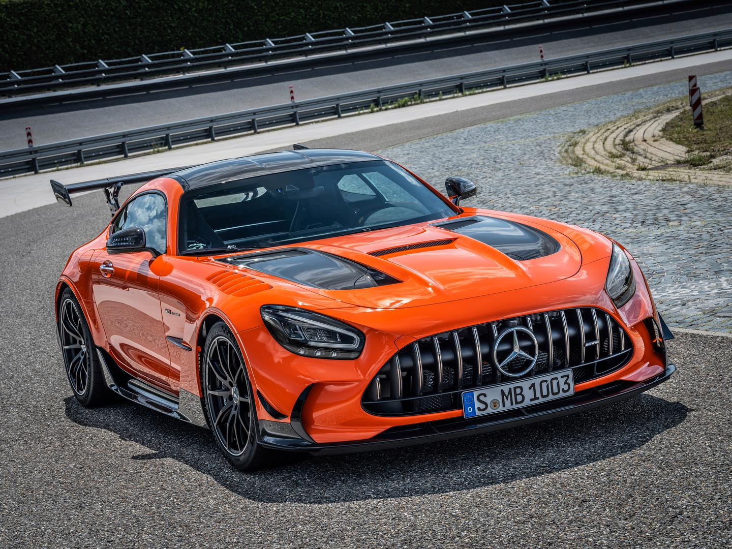 Orange AMG GT Black Series Wheels