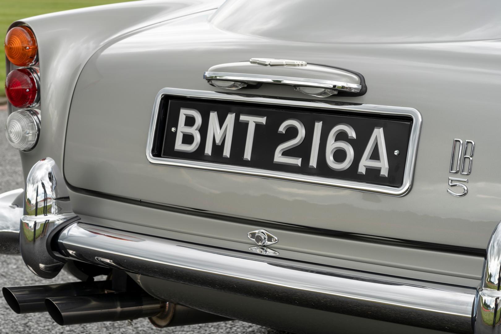 Aston Martin DB5 Number Plate