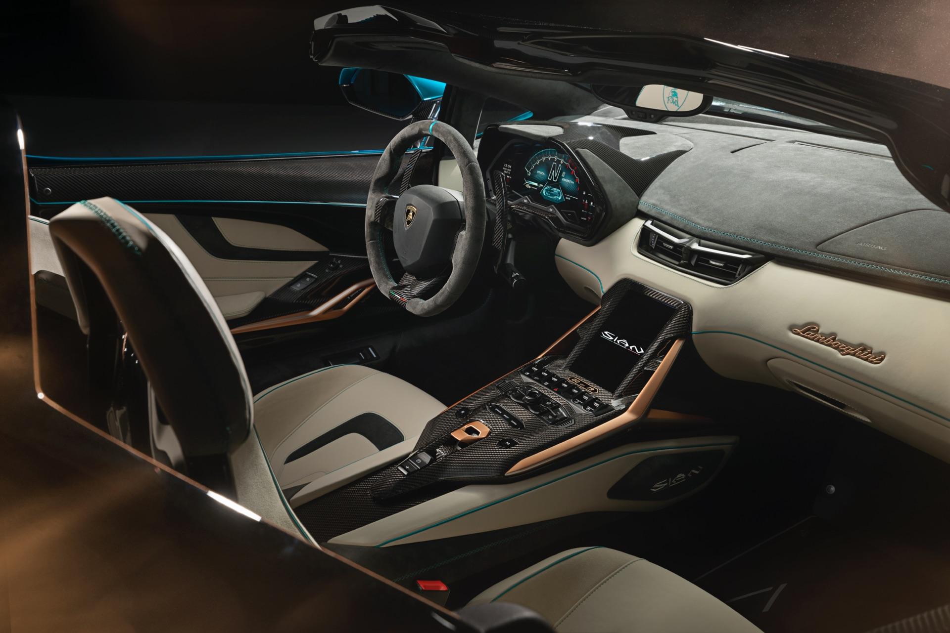 Lamborghini Sian Roadster Interior