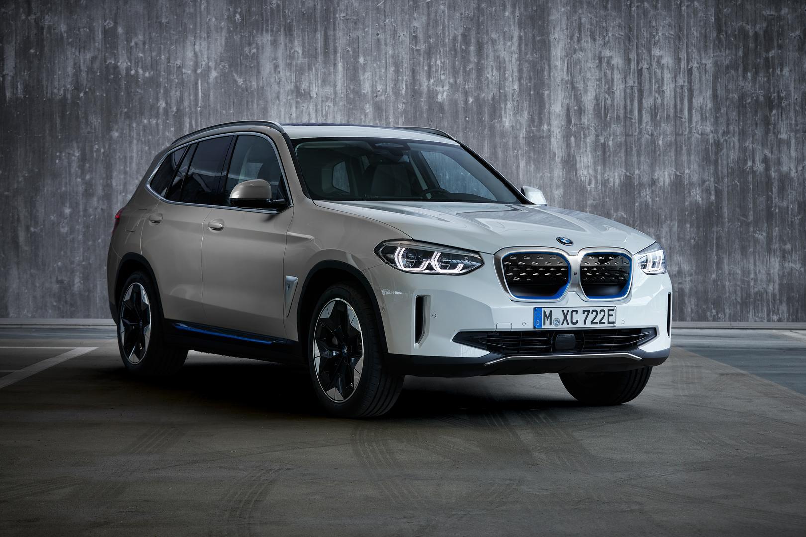 White BMW iX3