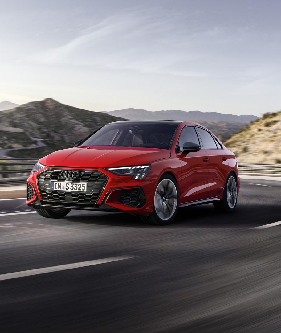 Red Audi S3 Sedan