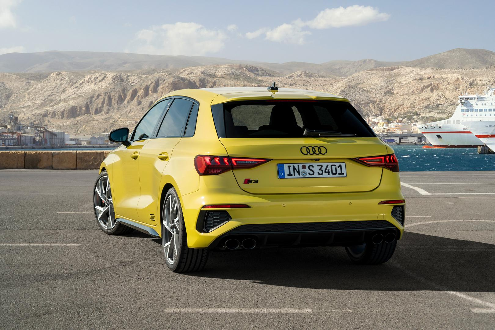 Yellow Audi S3 2021