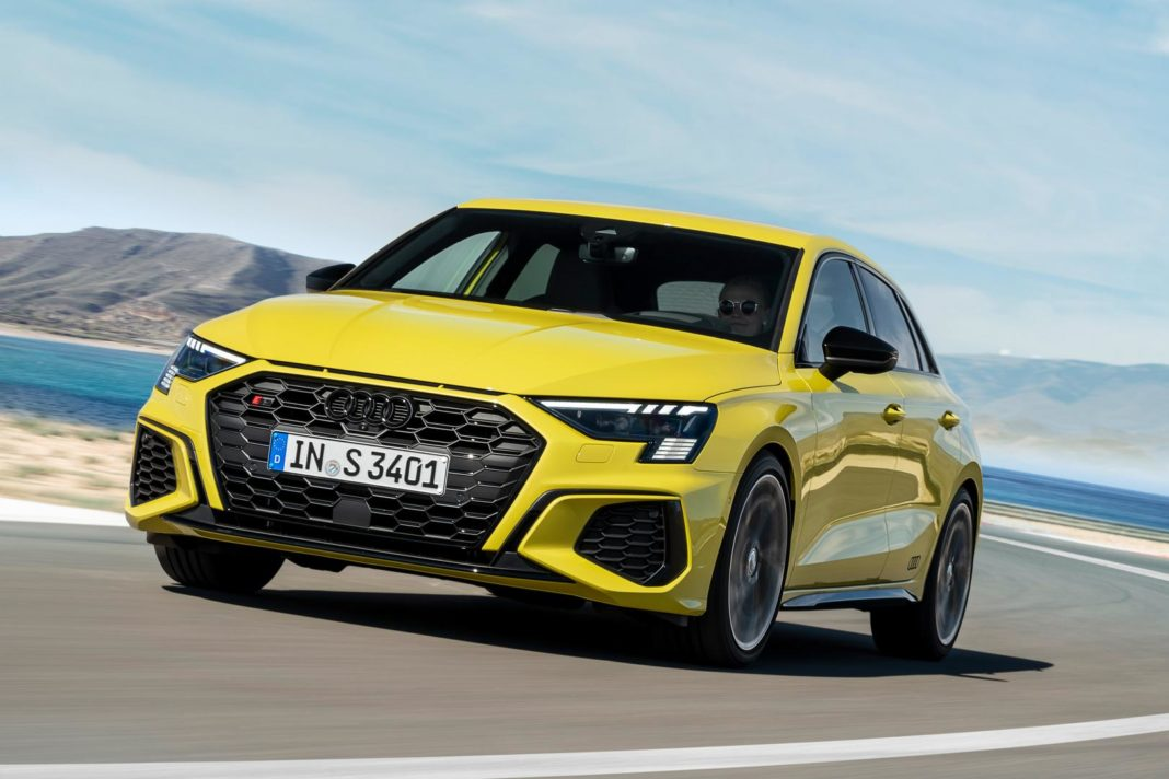 Python Yellow Audi S3