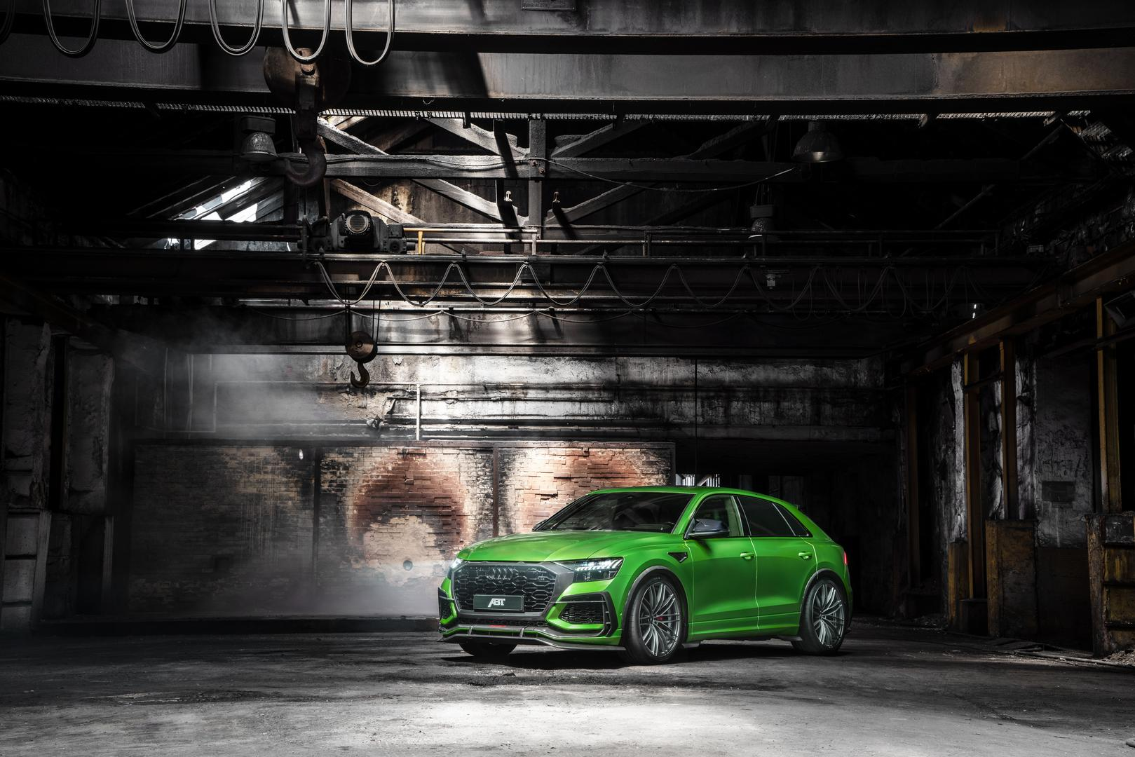 Green ABT Audi RSQ8-R