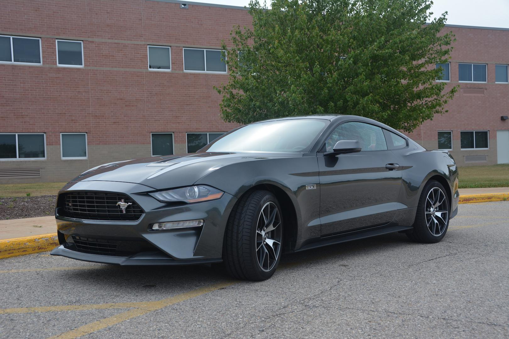 Grey Ford Mustang EcoBoost