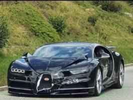 Crashed Bugatti Chiron