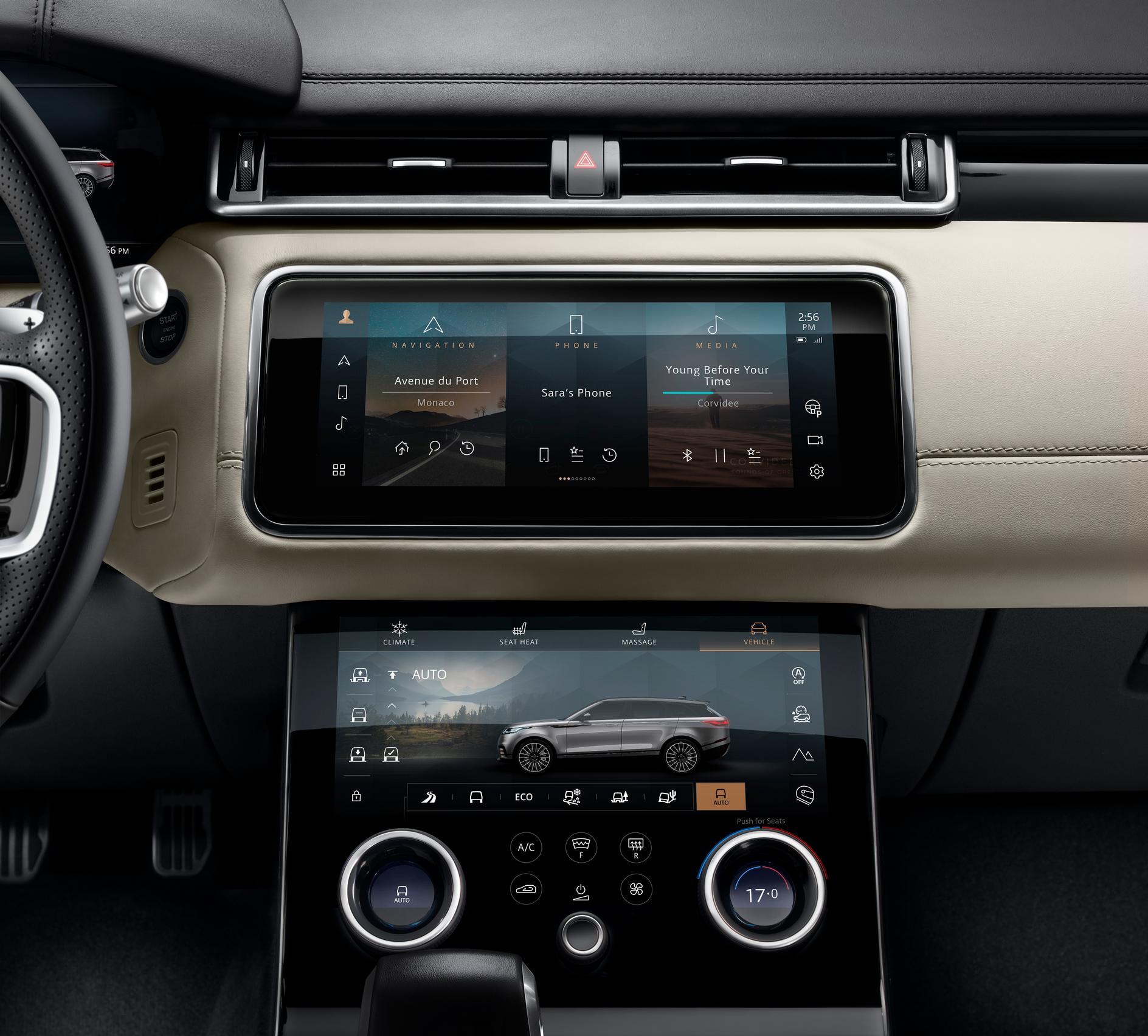 2021 Range Rover Velar Screens