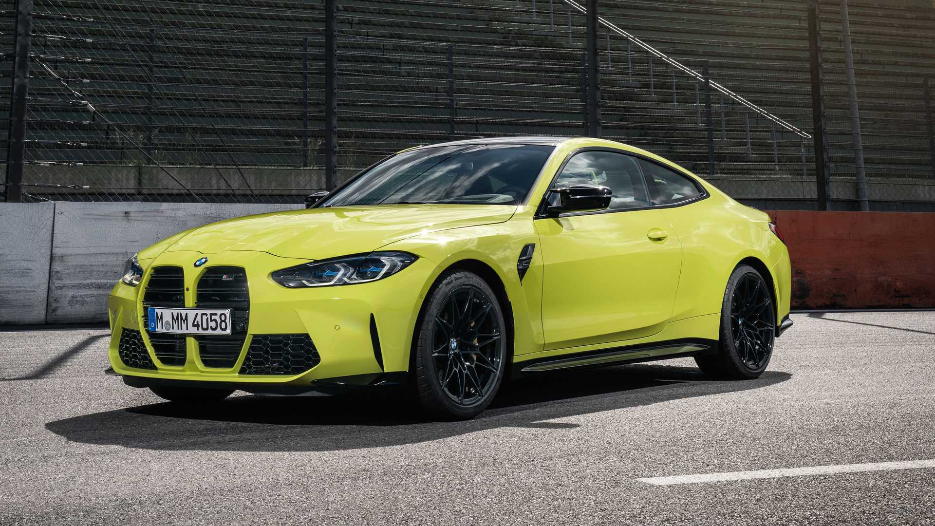 Yellow 2021 BMW M4 Competition