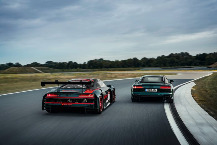 Audi R8 Green Hell and R8 LMS Rear