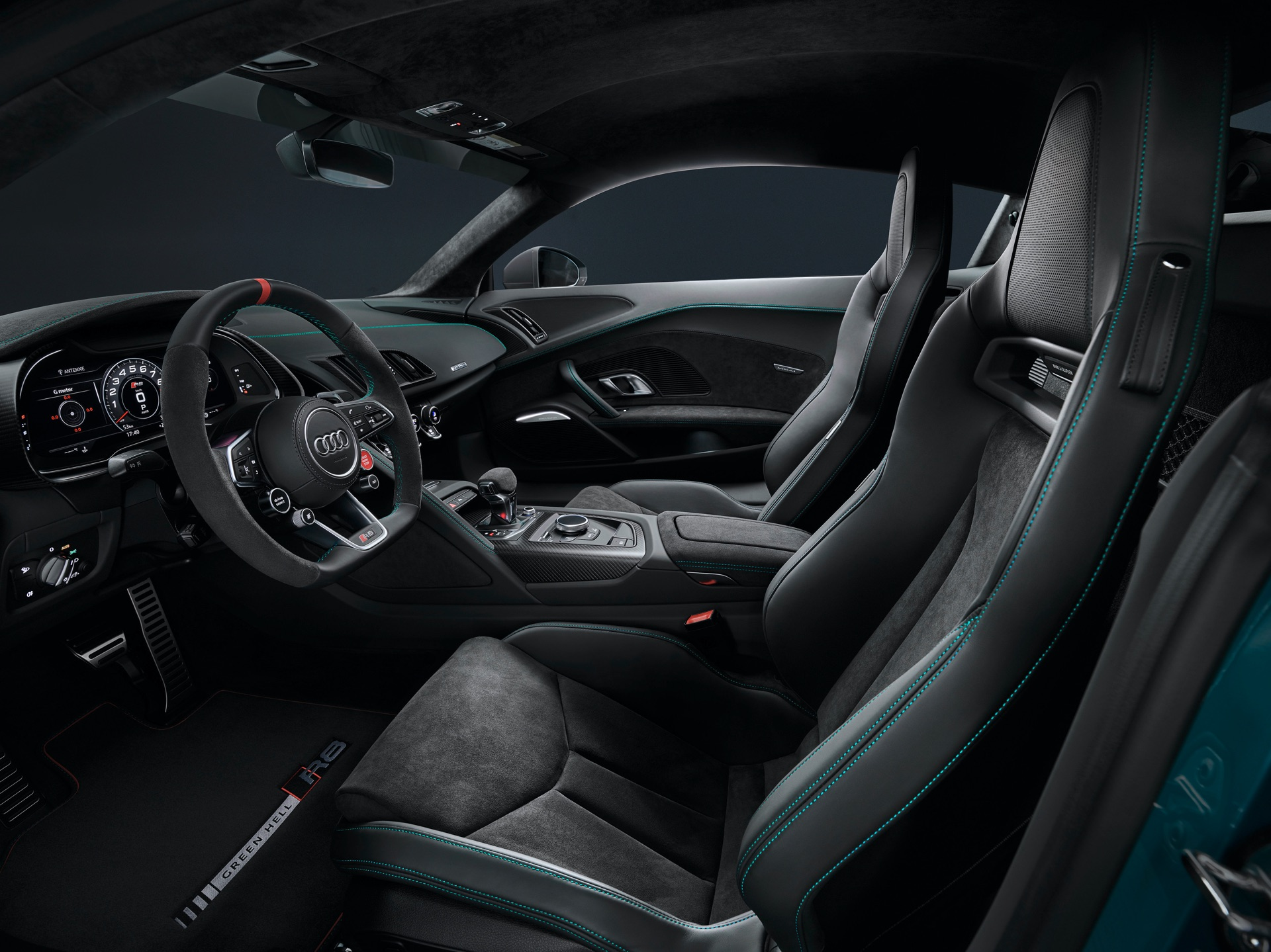 Audi R8 Green Hell Drivers Side Interior