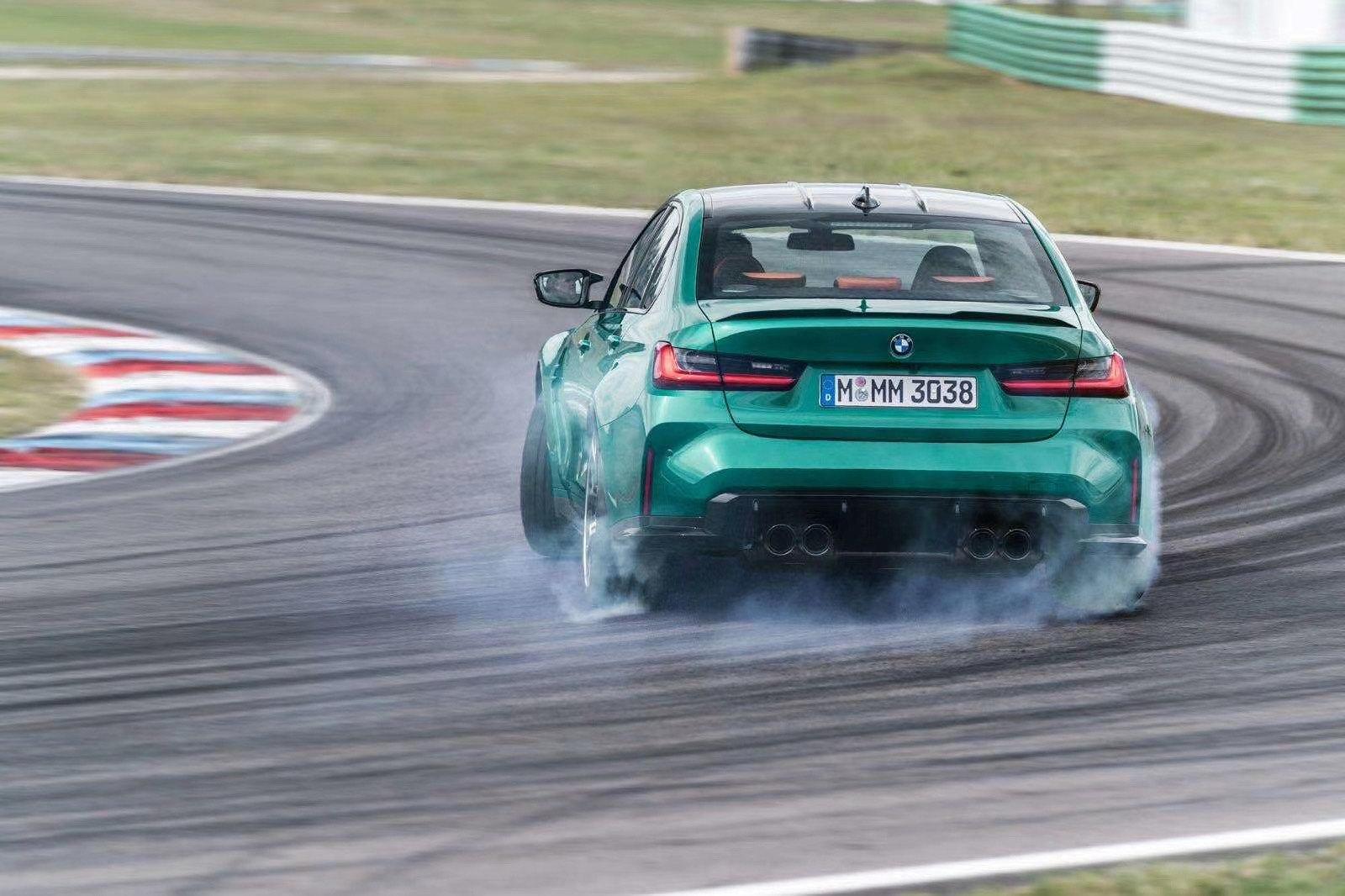 Leaked BMW M3 on Track