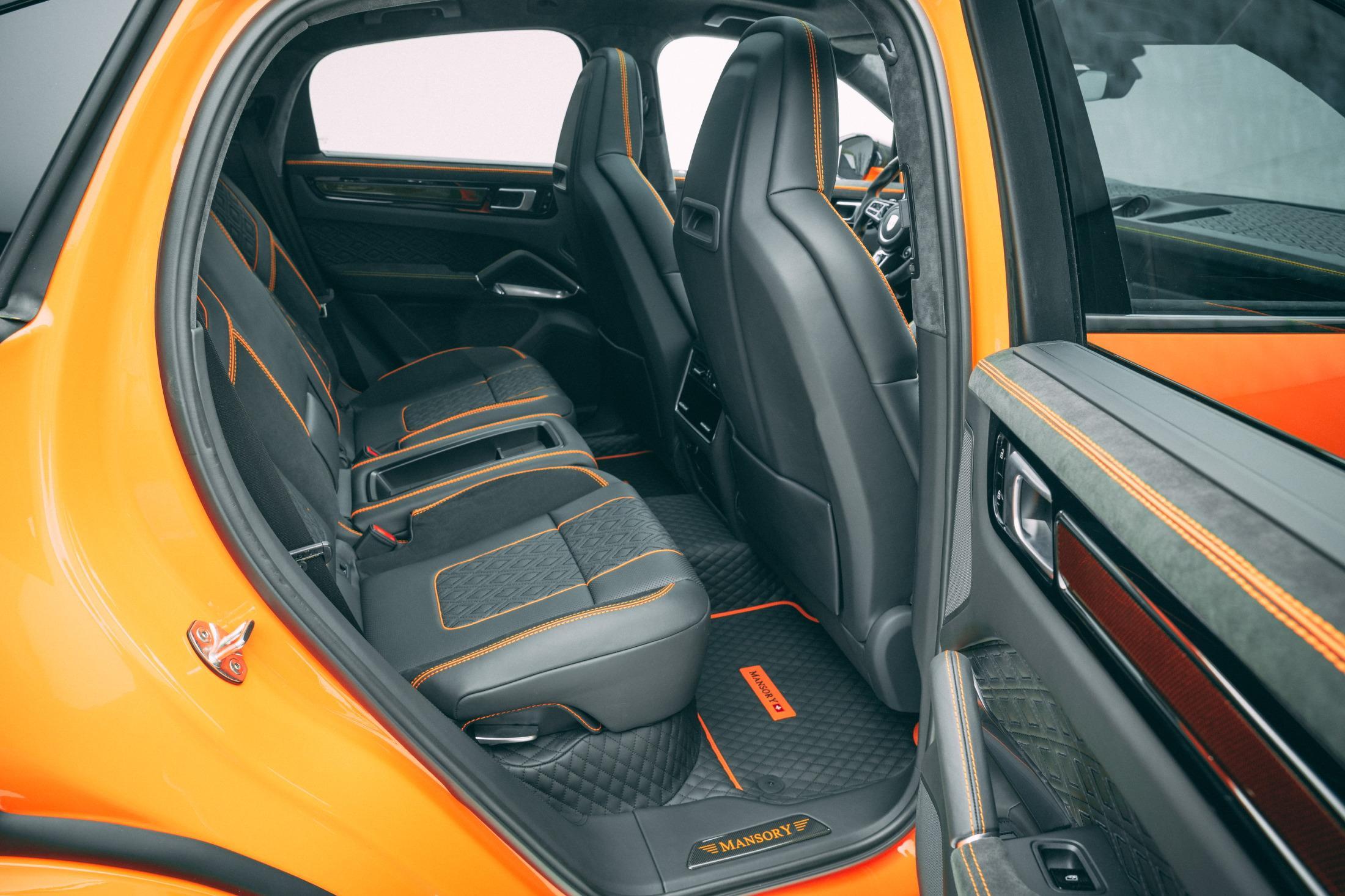 Mansory Porsche Cayenne Turbo Coupe Rear Seats
