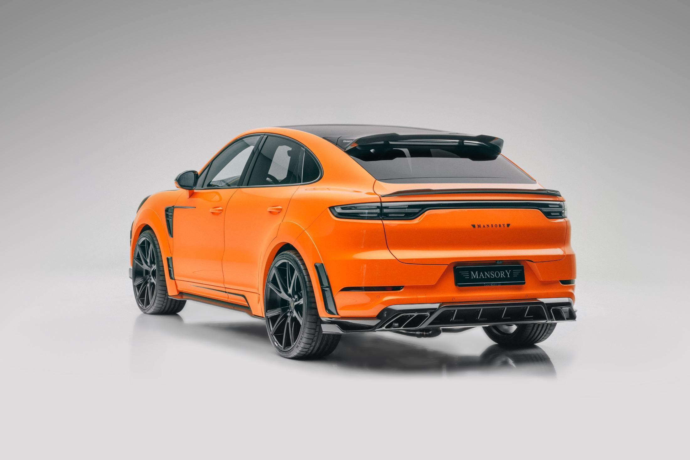 Orange Mansory Porsche Cayenne Turbo