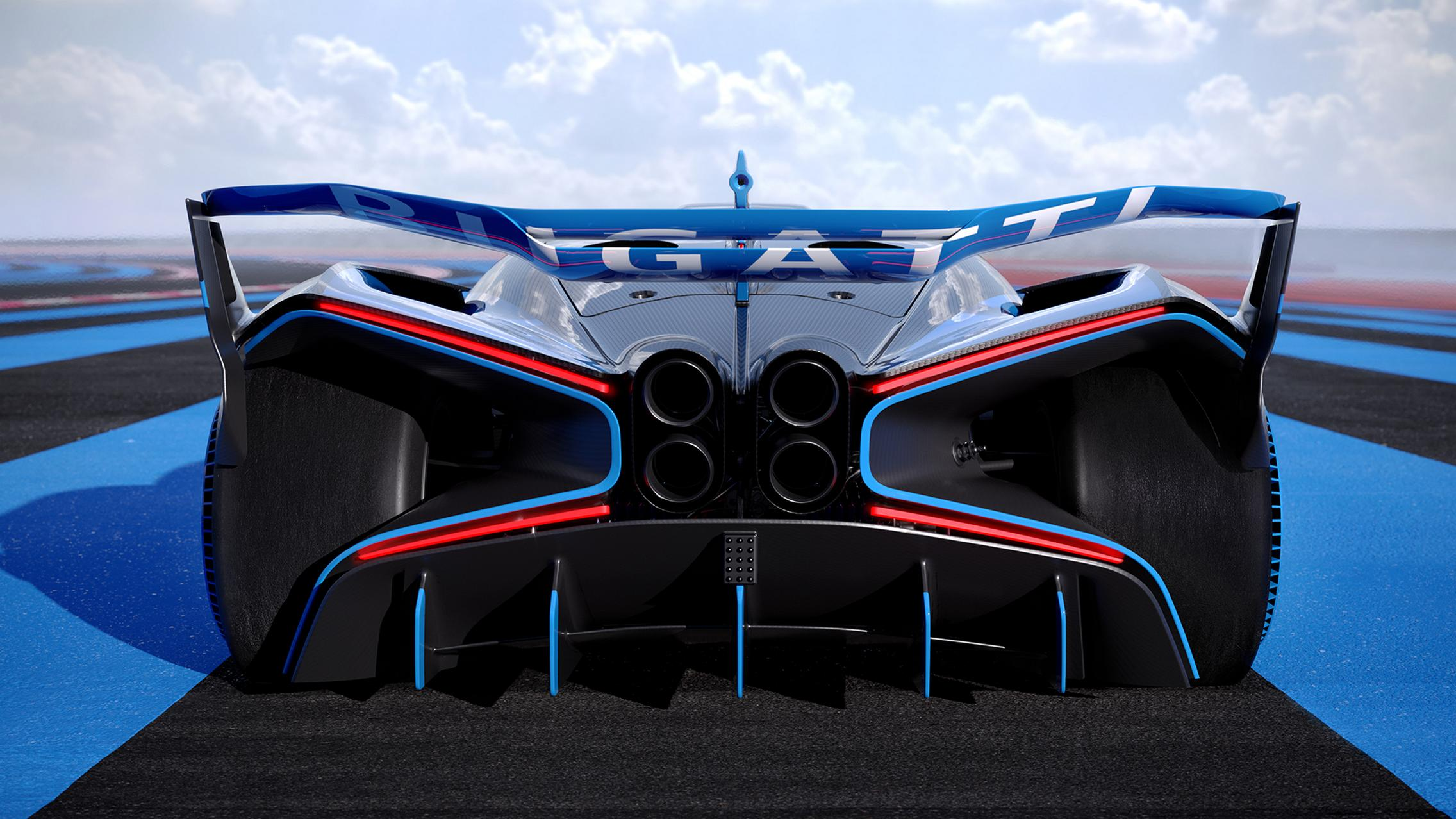 Bugatti Bolide rear lights