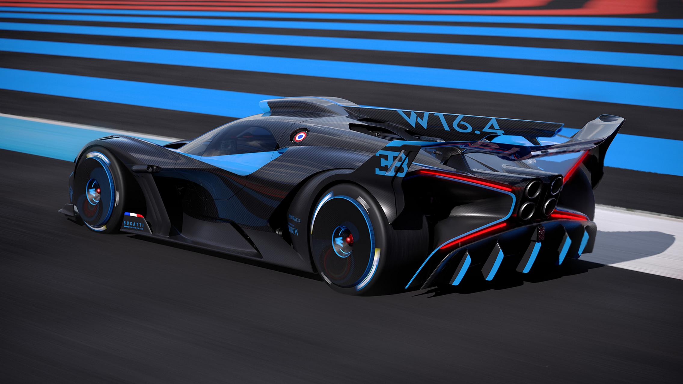 Bugatti Bolide side rear