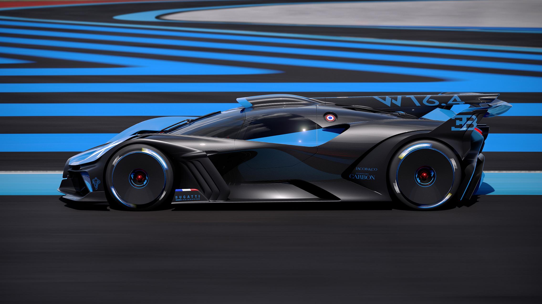 Bugatti Bolide side
