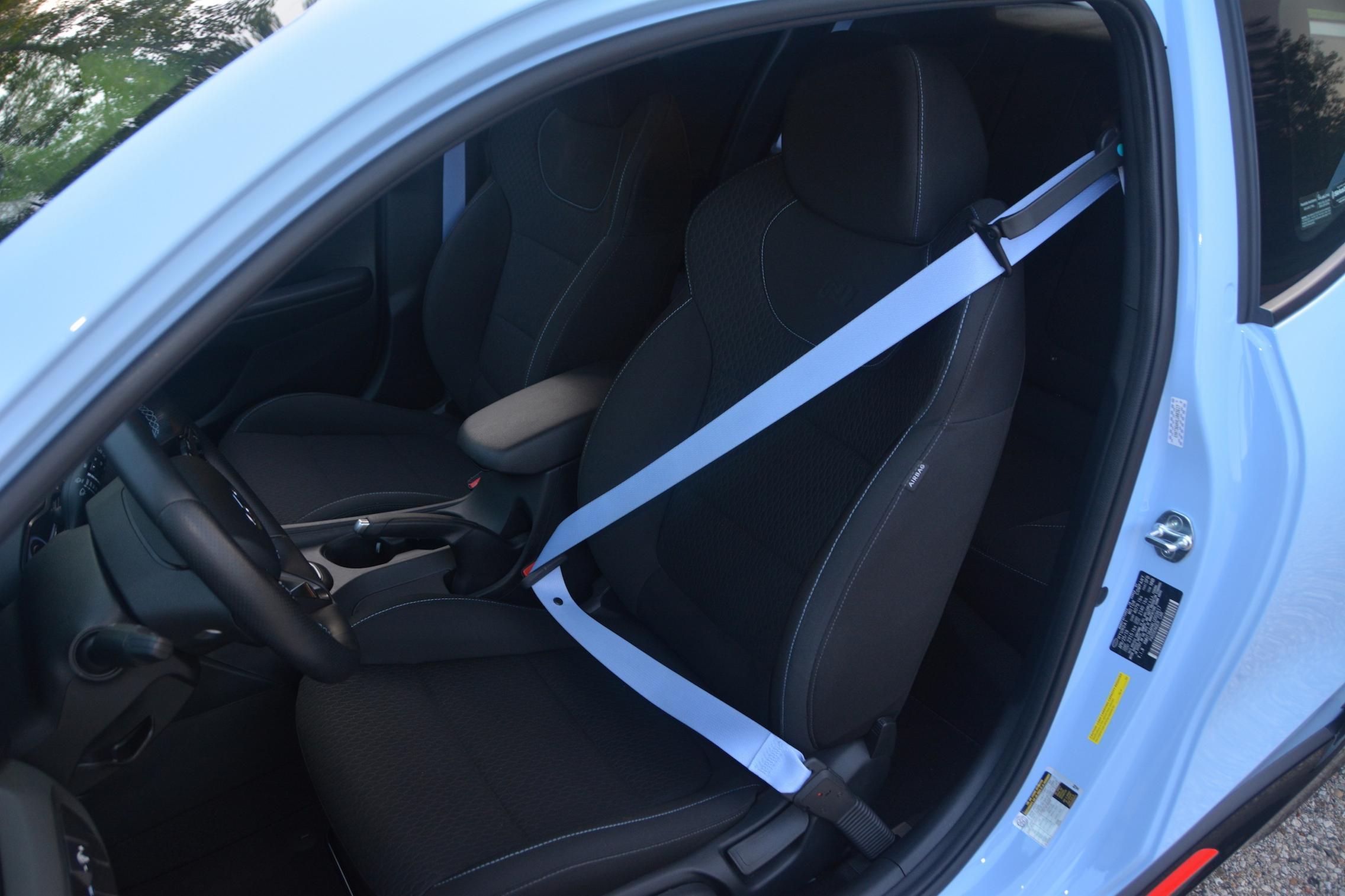 Blue Seat Belts