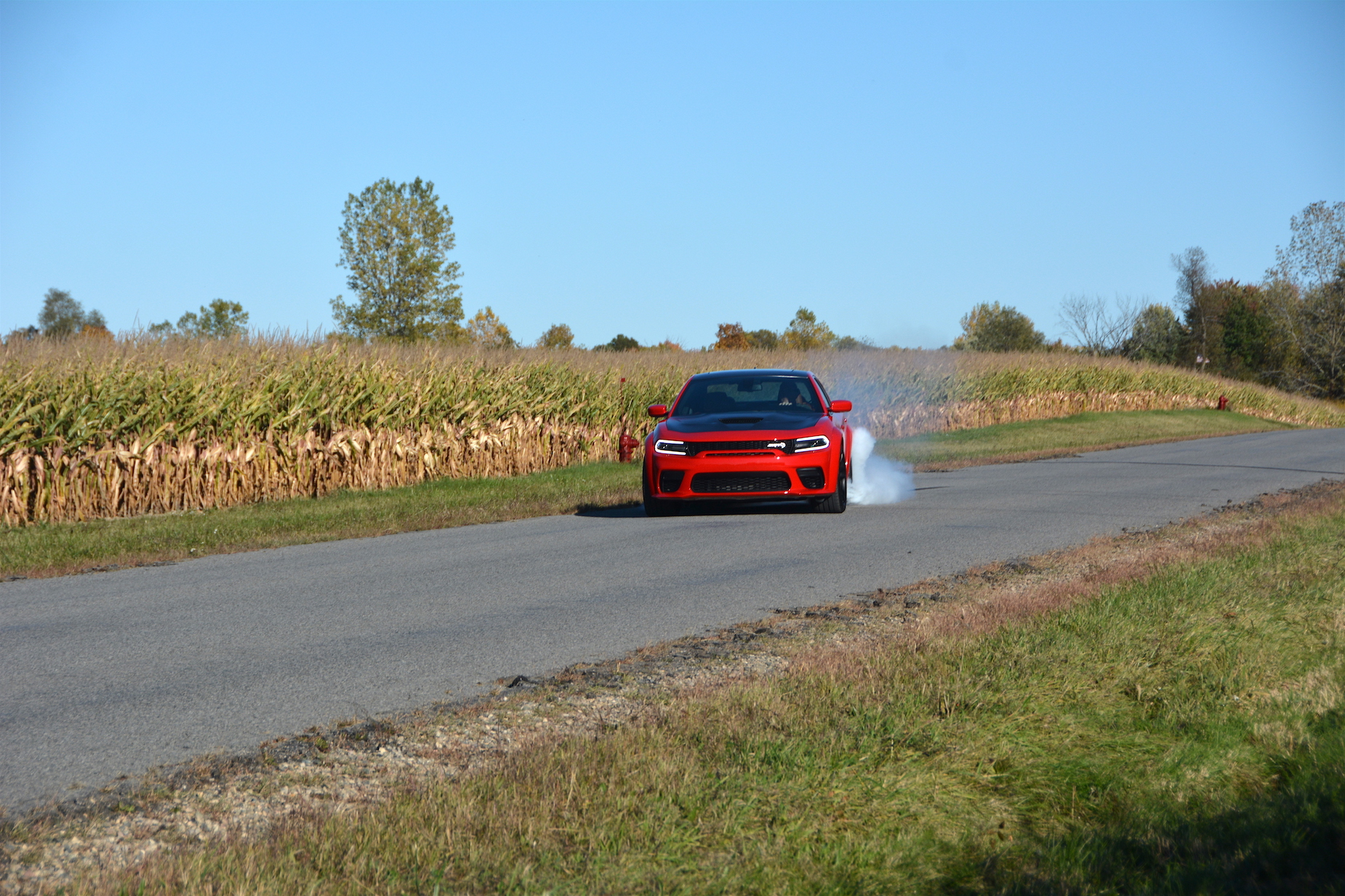 Dodge Charger SRT Hellcat Widebody Burnout