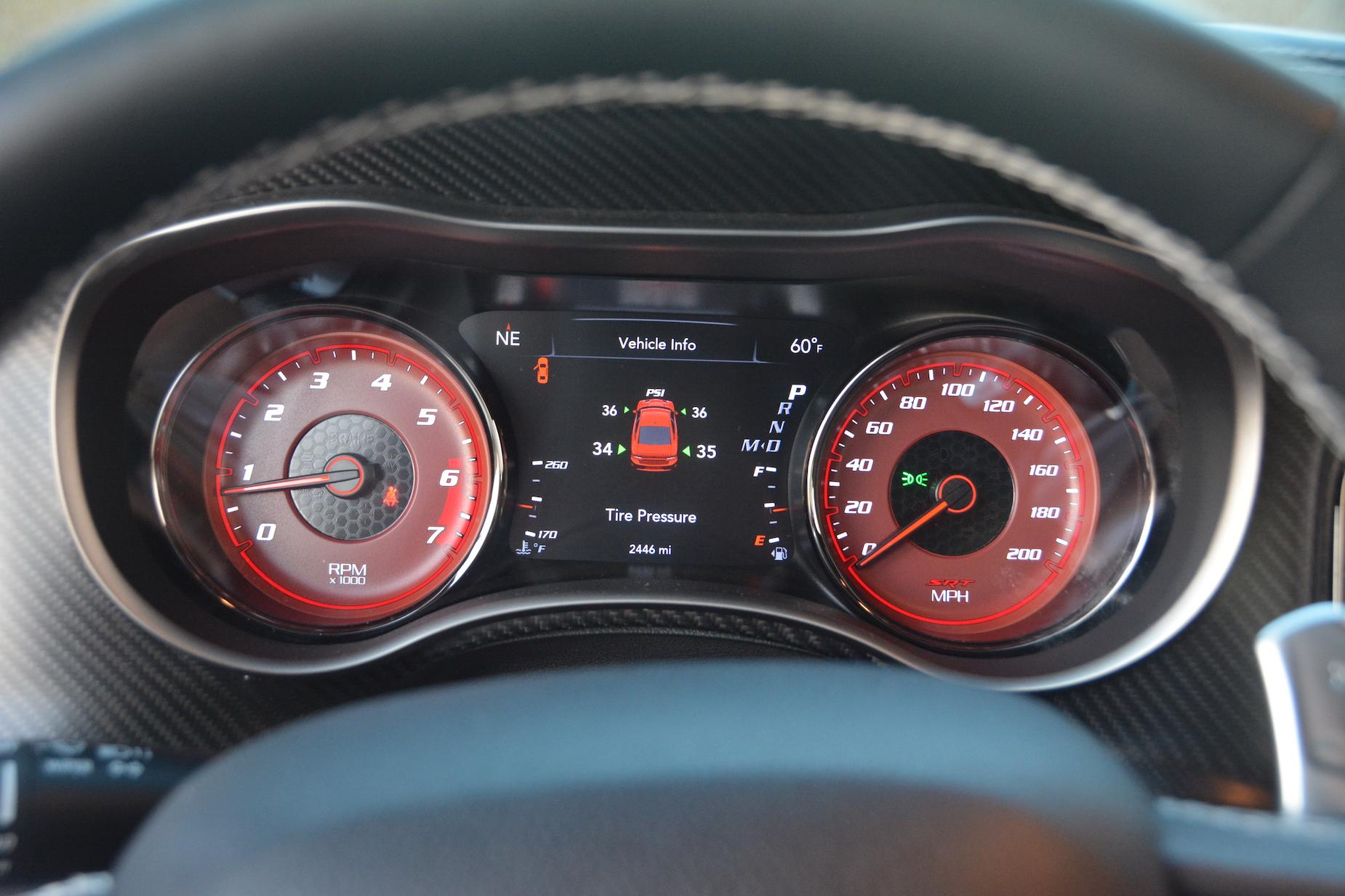 Dodge Charger SRT Hellcat Widebody Speedo